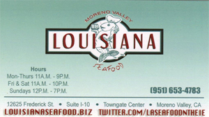 Moreno Valley Louisiana Seafood
